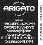 arigato typeface with ligatures ...   Shutterstock .eps vector #645540058
