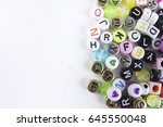 colorful words as a background. | Shutterstock . vector #645550048