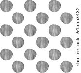 seamless pattern with hand... | Shutterstock .eps vector #645553432