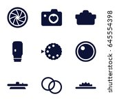 aperture icons set. set of 9... | Shutterstock .eps vector #645554398
