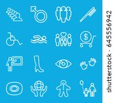 human icons set. set of 16... | Shutterstock .eps vector #645556942