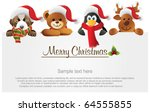 merry christmas banner with... | Shutterstock .eps vector #64555855