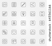blog icons set   vector minimal ... | Shutterstock .eps vector #645561166