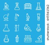 lab icons set. set of 16 lab... | Shutterstock .eps vector #645561562