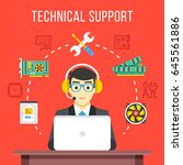 technical support. technical... | Shutterstock .eps vector #645561886