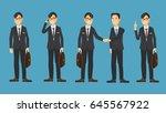 asian business man cartoon... | Shutterstock .eps vector #645567922