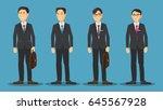 asian business man cartoon...   Shutterstock .eps vector #645567928