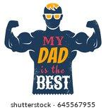 vector vintage greeting card... | Shutterstock .eps vector #645567955