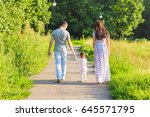 family  parenthood and people...   Shutterstock . vector #645571795