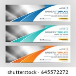 abstract web banner design... | Shutterstock .eps vector #645572272