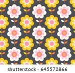 seamless floral pattern | Shutterstock .eps vector #645572866
