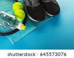 healthy life sport concept.... | Shutterstock . vector #645573076