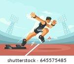 athlete sprint start | Shutterstock .eps vector #645575485
