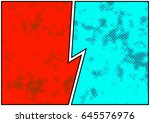 comics blank story page spotted ...   Shutterstock .eps vector #645576976
