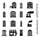 building icons | Shutterstock .eps vector #645577276