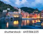 beautiful italian town of... | Shutterstock . vector #645586105