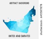 united arab emirates uae map in ... | Shutterstock .eps vector #645587878