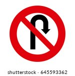 forbidden signal turn | Shutterstock .eps vector #645593362