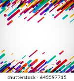 colorful abstract background on ... | Shutterstock .eps vector #645597715