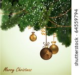 christmas background. | Shutterstock .eps vector #64559794