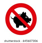 forbidden signal save money | Shutterstock .eps vector #645607306