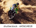 Motocross Rider Creates A Larg...