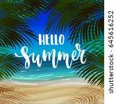 trendy hand lettering poster... | Shutterstock .eps vector #645616252