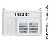 vector illustration bookstore... | Shutterstock .eps vector #645619552