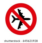 forbidden signal airplane | Shutterstock .eps vector #645621928
