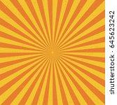 sun sunburst grunge pattern.... | Shutterstock .eps vector #645623242
