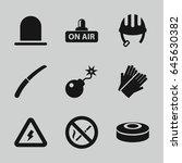 danger icons set. set of 9...   Shutterstock .eps vector #645630382