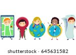 illustration of stickman kids... | Shutterstock .eps vector #645631582