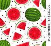 vector seamless pattern with... | Shutterstock .eps vector #645631702