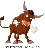 a bull with a white background  ...