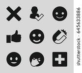 positive icons set. set of 9... | Shutterstock .eps vector #645633886