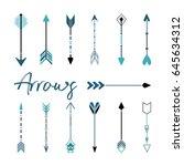 modern set of arrows. vector... | Shutterstock .eps vector #645634312