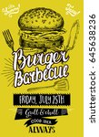 barbecue party invitation.... | Shutterstock .eps vector #645638236