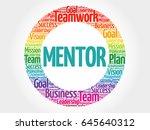 mentor circle word cloud ... | Shutterstock . vector #645640312