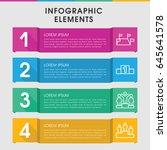 modern position infographic... | Shutterstock .eps vector #645641578