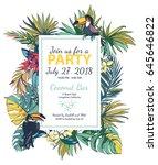 vector illustration tropical... | Shutterstock .eps vector #645646822