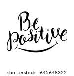 vector motivational lettering.... | Shutterstock .eps vector #645648322