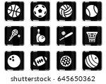 sport balls web icons for user... | Shutterstock .eps vector #645650362