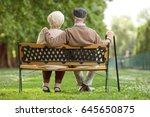 rear view shot of a senior... | Shutterstock . vector #645650875