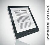 electronic book  e book  reader.... | Shutterstock .eps vector #64565176