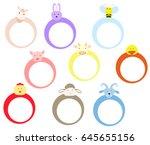 farm animals frame design | Shutterstock .eps vector #645655156