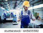 modern industrial machine... | Shutterstock . vector #645655582