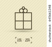 gift box line vector icon | Shutterstock .eps vector #645661348
