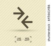 contact arrows line vector icon | Shutterstock .eps vector #645661486