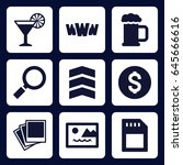 ui icon. set of 9 filled ui...