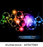 Abstract Glowing Circles Of...